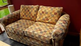 Patterned Sofa with arm covers