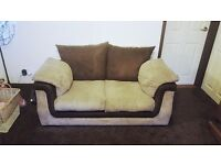 2 fabric seater sofa and chair