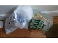 Two free bags of packaging stuff