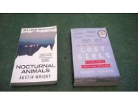 noctural animals book and lost girls book