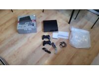 Sony PlayStation 3 Slim 320 GB Charcoal Black Console PLUS 2 CONTROLLERS