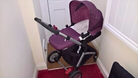 Mothercare ROAM Complete Travel System: Burgundy + 2x Isofix mounts