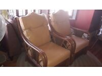 2x Cane conservatory chairs, excellent condition.