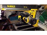 DeWalt overarm sliding metre saw