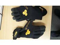 Black neoprene kevlar diving gloves - Small