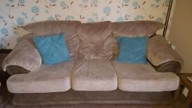 3 piece suite. 3 seater sofa and 2 armchairs
