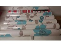 beautiful blue flowered wallpaper. Melody Teal