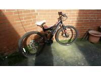 "Muddyfox 26"" dual suspension mountain bike"
