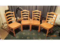 New Solid Oak Dining Chairs
