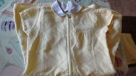 yellow gingham school summer dress 7-8 years old