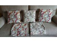 SCS Red Cream Scatter Cushions
