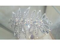 Australian Crystal Side piece head dress
