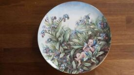 Flower Fairy Plate by Cicely Mary Barker - The Forget-Me-Not Fairy