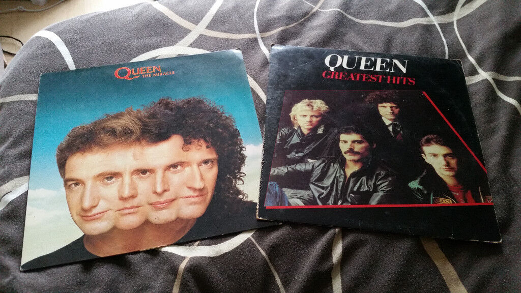 3 x Queen vintage vinyl album records