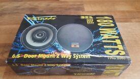 "tornado 6.5"" 180watt bass car speakers brand new"