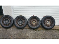 175 65 14 4 x steel wheels + 4 x tyre