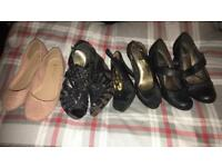 4 pairs size 4 shoes