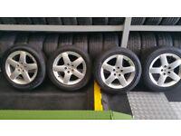 Peugeot Genuine 17 alloy wheels + 4 x tyres 215 55 17