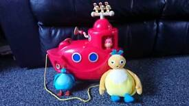 Interactive twirlywoos boat and interactive teddy