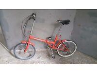 Folding bike needing some minor repairs
