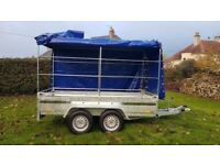BRAND NEW MODEL 10 X 5 MASTER HEAVEY DUTY TRAILER DOUBLE AXLE WITH FRAME AND COVER 2700KG