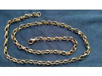 """9 carat Gold Belcher Chain 16"""""""