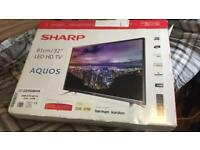 Sharp 32 inch HD TV with box (as new)
