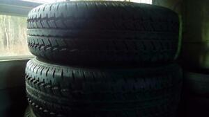 Two Like new Firestone  235 70 16 M+S tires.
