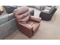 Julian Bowen Pullman Leather Rise & Recline Chair Free Delivery Nottinghan Derby View Hucknall Nottm