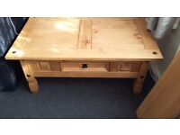 Coffee table corona solid pine mexican