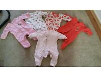 Newborn x5 sleep suits