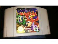 Banjo Kazooie - Nintendo 64 cartridge game. collectible vintage