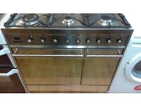 SMEG 90 cm Dual Fuel Range Cooker - Stainless Steel ex display