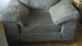 Reids Furniture - Brown 3 seater ,2seater and chair .