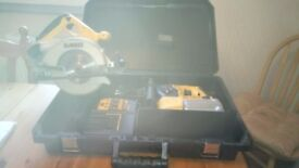 Used Dewalt 24 v cordless power tool set, SDS drill/Circular saw,new batteries, see photos & details