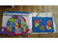 Kids Alphabet & Counting foam puzzles