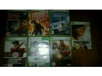 7 Xbox 360 games including Fifa