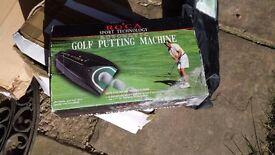 Golf putting machine