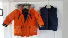 Next boys 3 in 1 padded coat 6-9 months