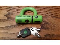 Kryponite EV disc lock and Kryptonite security cable shackle - chain motorcycle