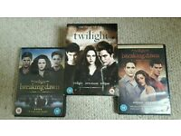 Twilight: complete set of dvds
