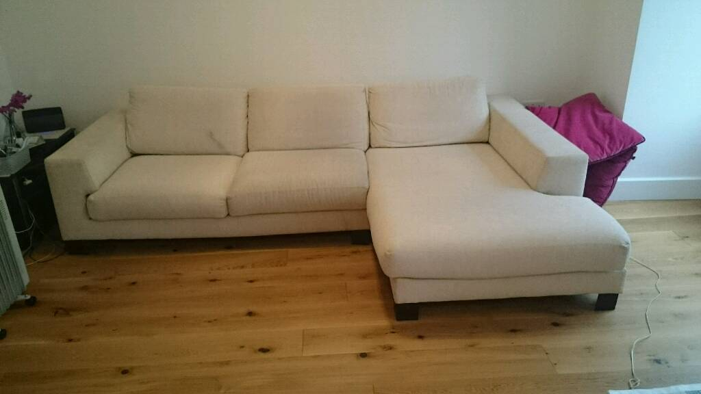 Cream L Shaped Sofa Chaise From Furniture Village In