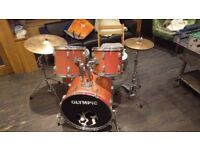 Olympic drum kit, nice kit, fairly old, still very usable, priced to shift! Drop by to give it a go.