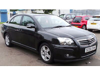 2006 06 TOYOTA AVENSIS T3-X 1.8 BLACK MOT 06/17(CHEAPER PART EX WELCOME)FREE DRIVEAWAY INSURANCE