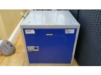 Lockable metal cabinet with key