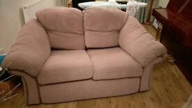 2 seater sofa, excellent condition, no markings/damage on wooden side features