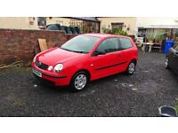 Red vw polo