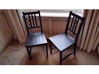 2 Black, Sleek Ikea Chairs