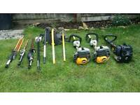 Petrol Strimmers with attachments