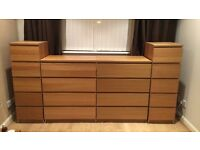 Bedroom units, kingsize bed & wardrobe from clean respectable smoke free home